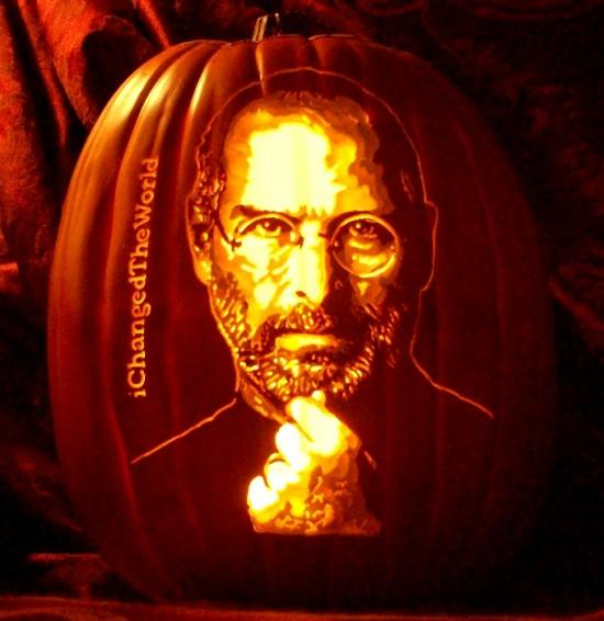 Pumpkin portraits Steve Jobs