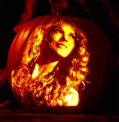 Taylor Swift Pumpkin Portraits
