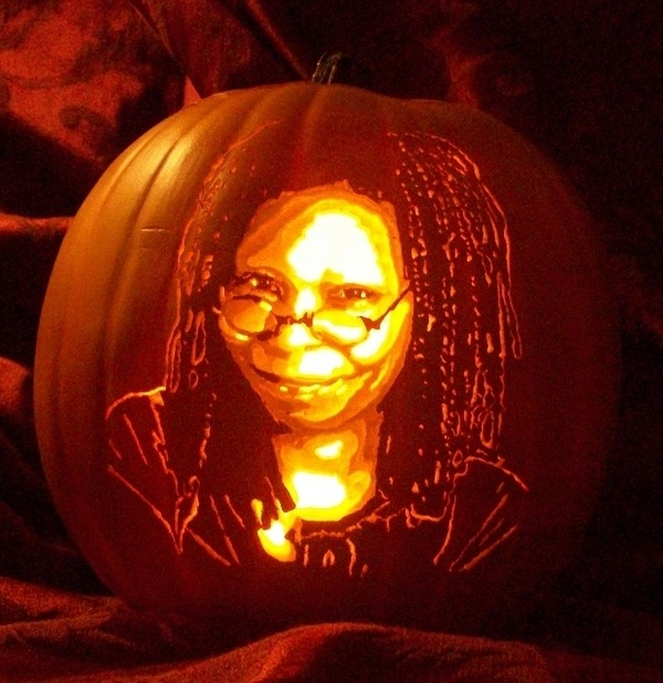 Pumpkin Carving Whoopi Goldberg