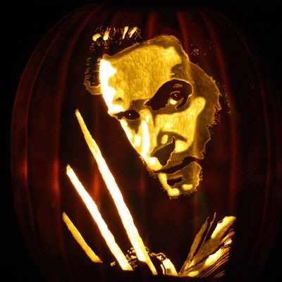 Pumpkin Carving Wolverine