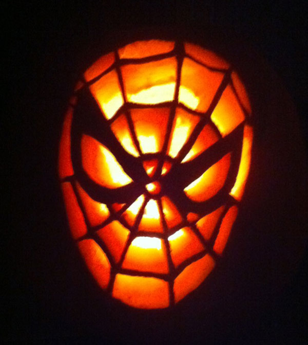 Spiderman pumpkin carving idea