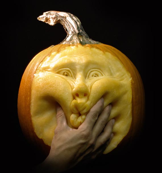 Squeezed Carved Pumpkin