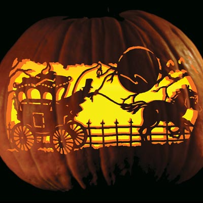 Wagon Pumpkin Carving
