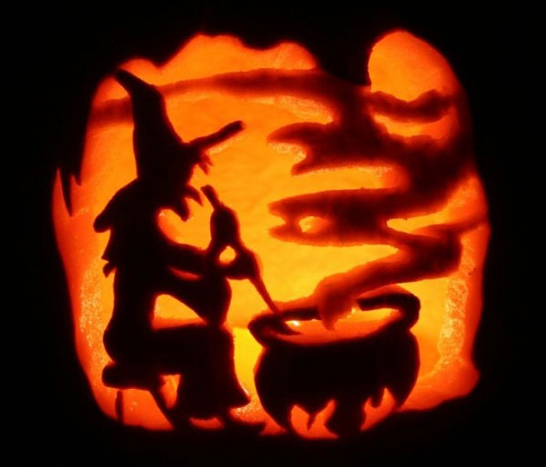 Witch Cauldron Pumpkin Carving