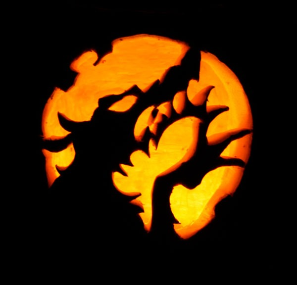 Wolf Halloween Pumpkin carving