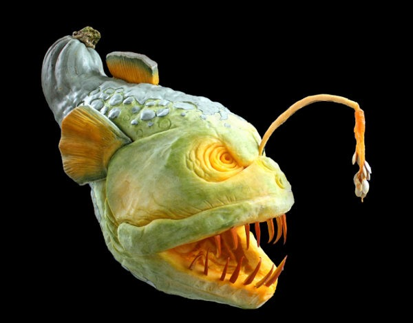 angler Halloween Pumpkin Carving