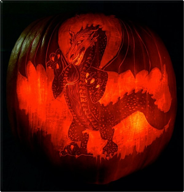 dragon carving pattern