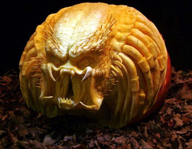 geek pumpkin carving