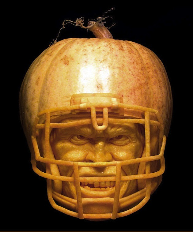 helmet Pumpkin Carving Ideas
