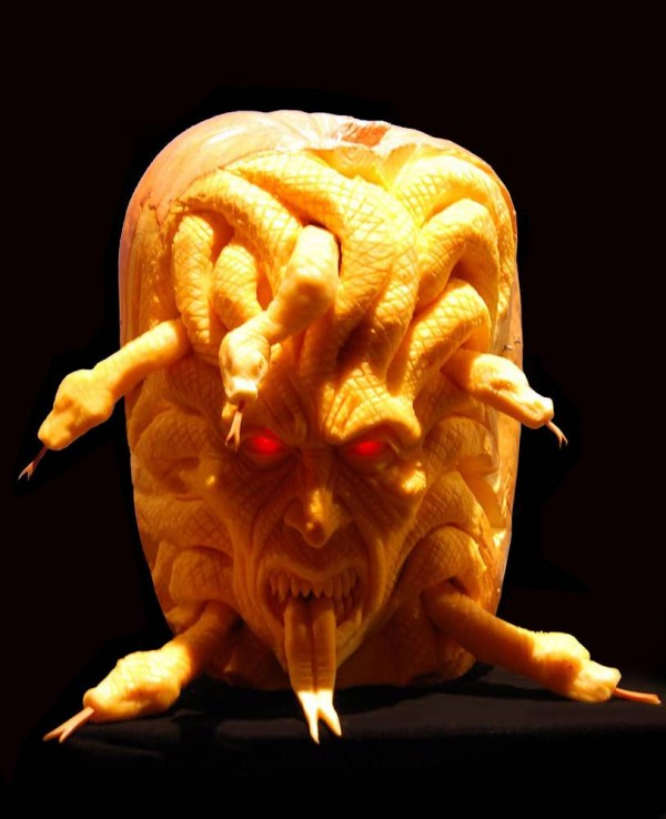 medusa Pumpkin Carving Ideas
