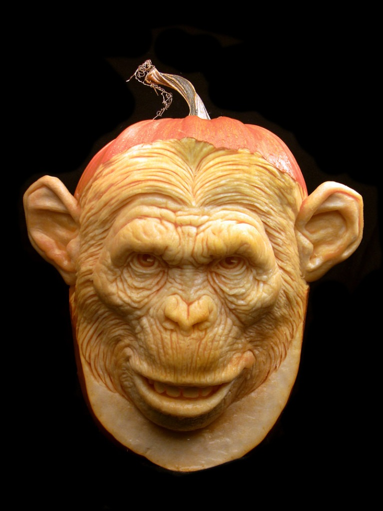 monkey halloween pumpkin carving