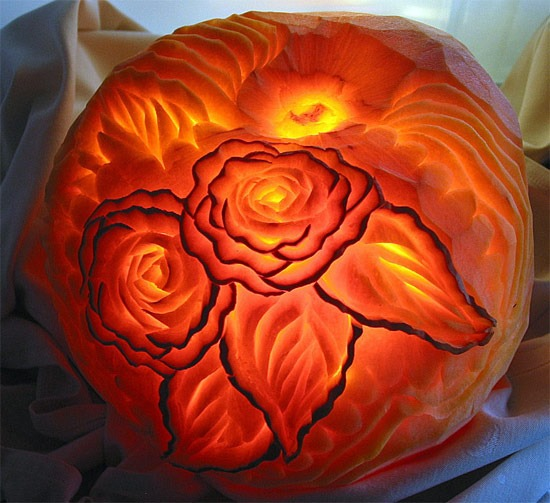 rose Halloween Pumpkin Carving