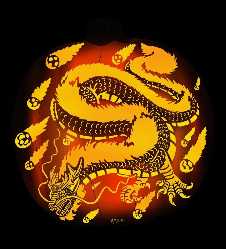 spiffy dragon Pumpkin Carving Idea