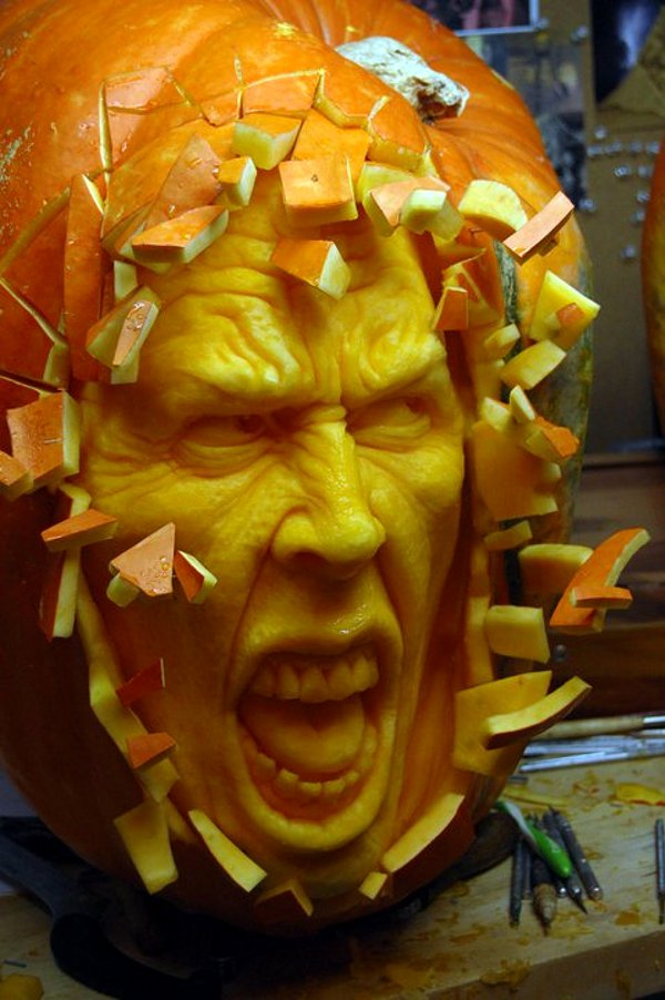 weird pumpkin carving