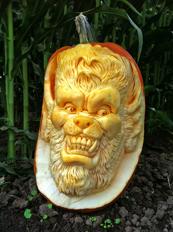 werewolf Pumpkin Carving Idea