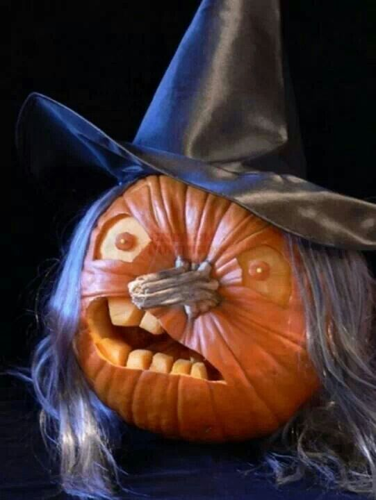 witch halloween pumpkin carvings