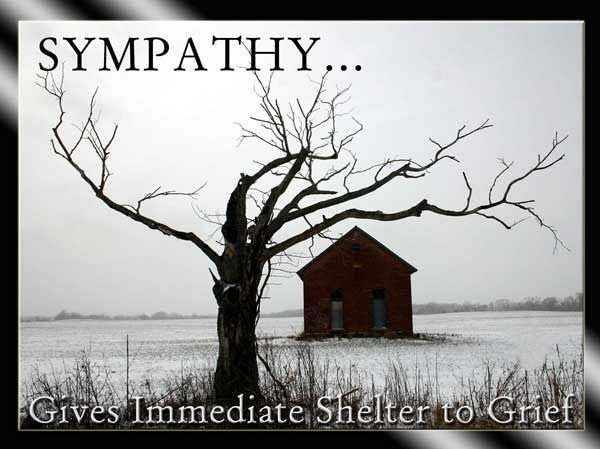 Shelter to Grief sympathy quote