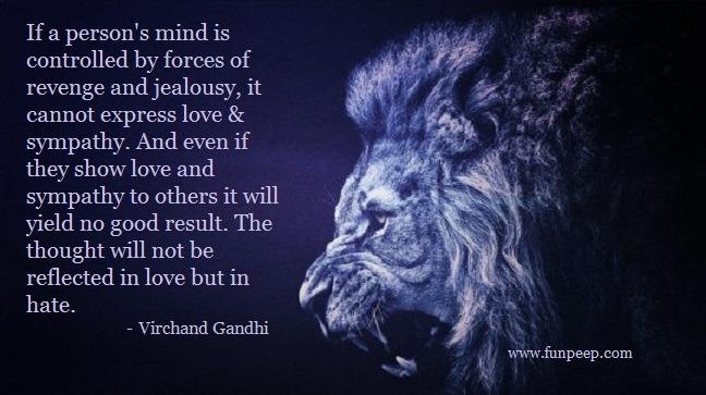 Virchand Gandhi sympathy quote