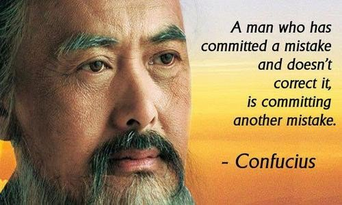 Confucius a Man Who Has Committed a Mistake
