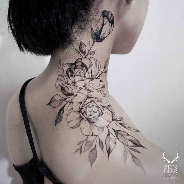 Fabulous Neck tattoos for girls