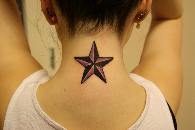 Star Neck tattoos for girls