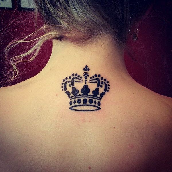 Crown Neck tattoos for girls