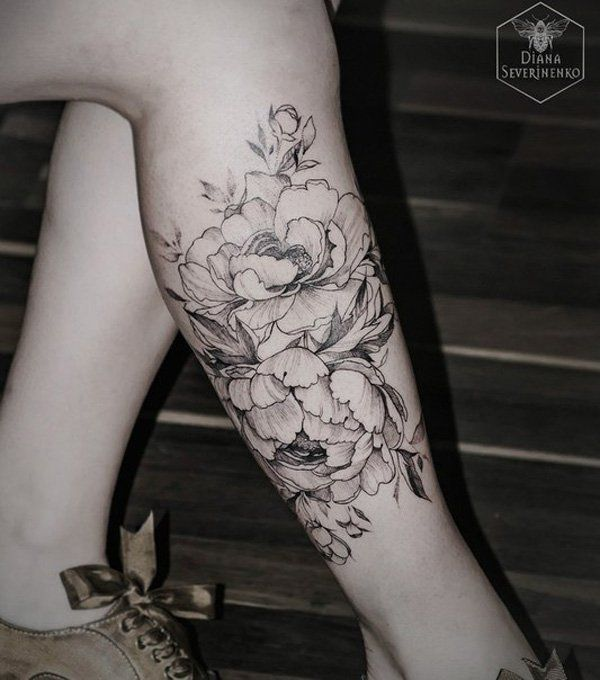 Elegant Leg Tattoo