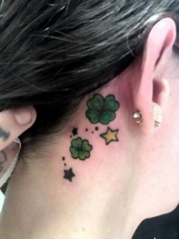 Flower Neck tattoos for girls