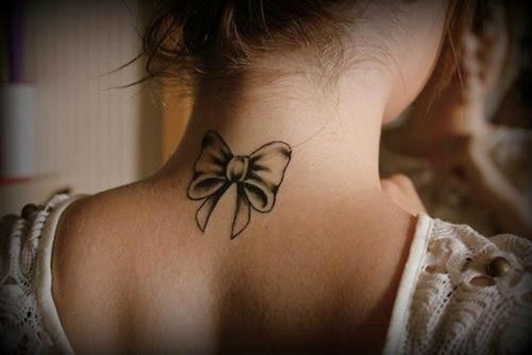 Bow Neck tattoos for girls