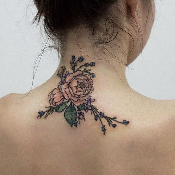 100 most fascinating designs of tattoos for girls for Neck tattoos for females