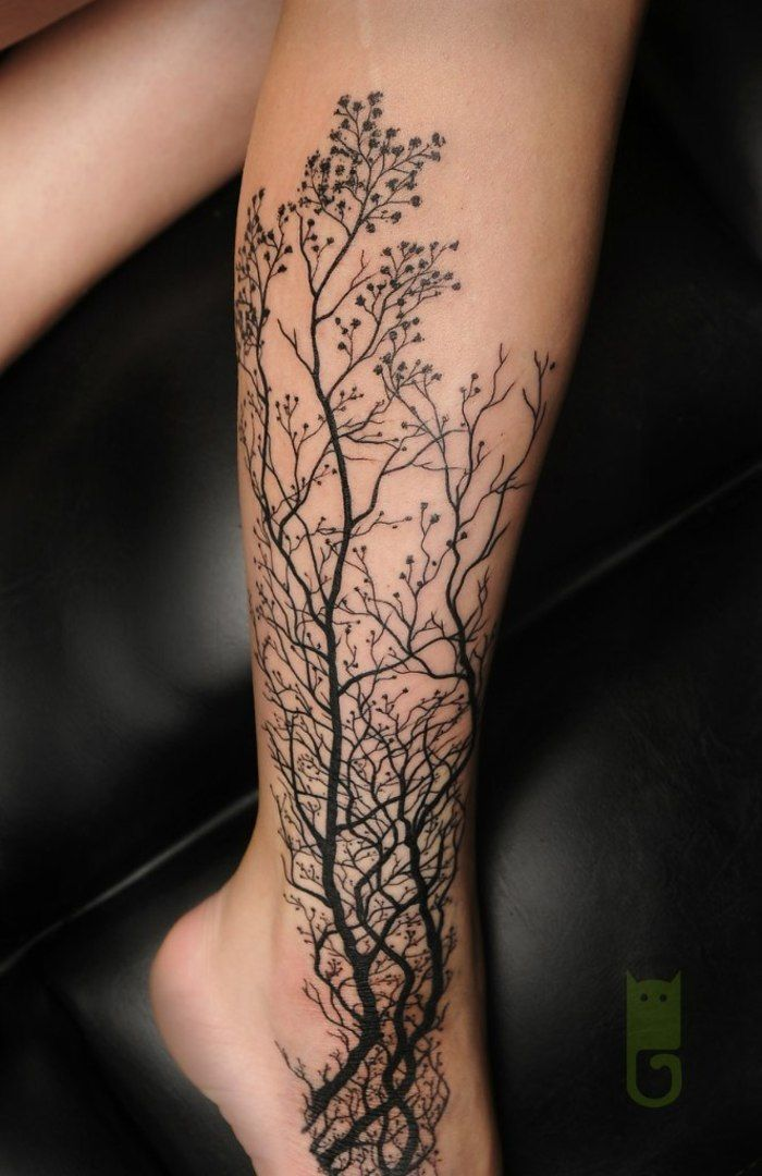 100 most fascinating designs of tattoos for girls for Thigh sleeve tattoo