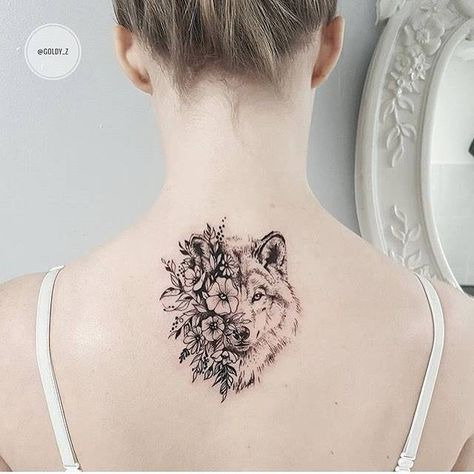 Wolf Neck tattoos for girls