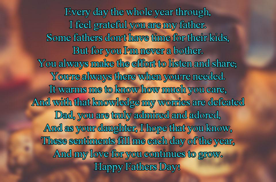 Daughter Fathers Day Poems