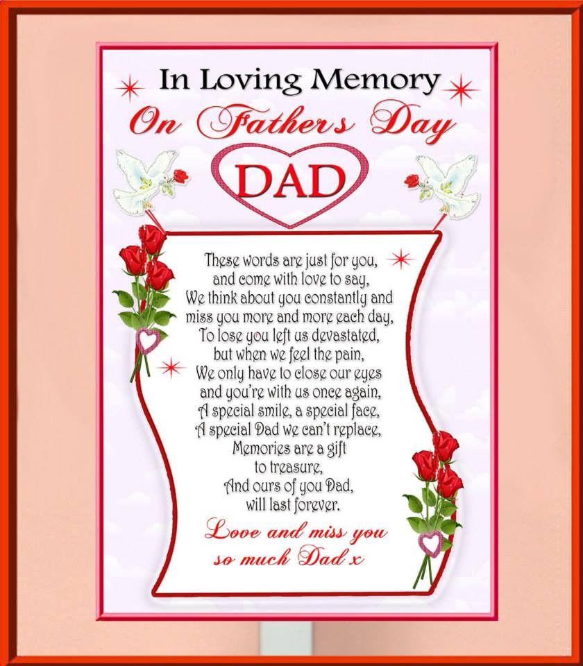 FATHERS DAY poem in loving memory