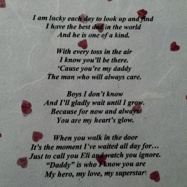 Poem for Fathers day