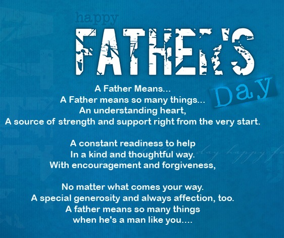 great Fathers Day Poems