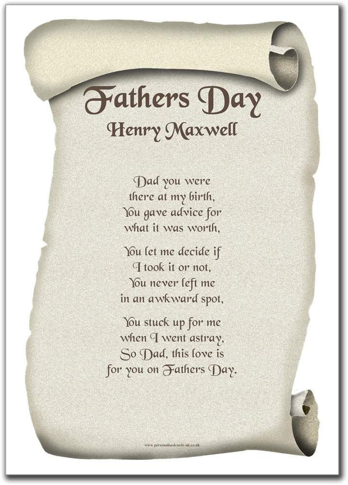poems happy fathers day