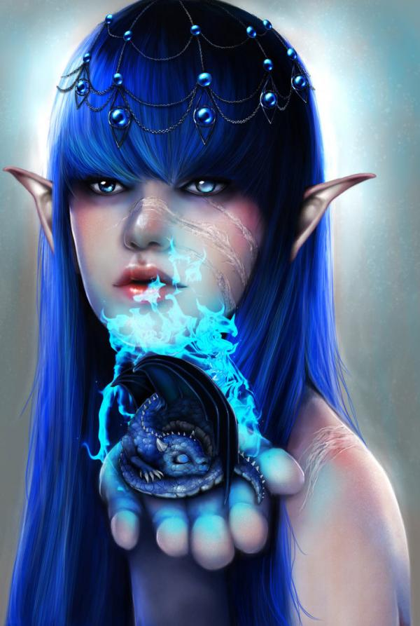 Born in blue flame RomanticFae