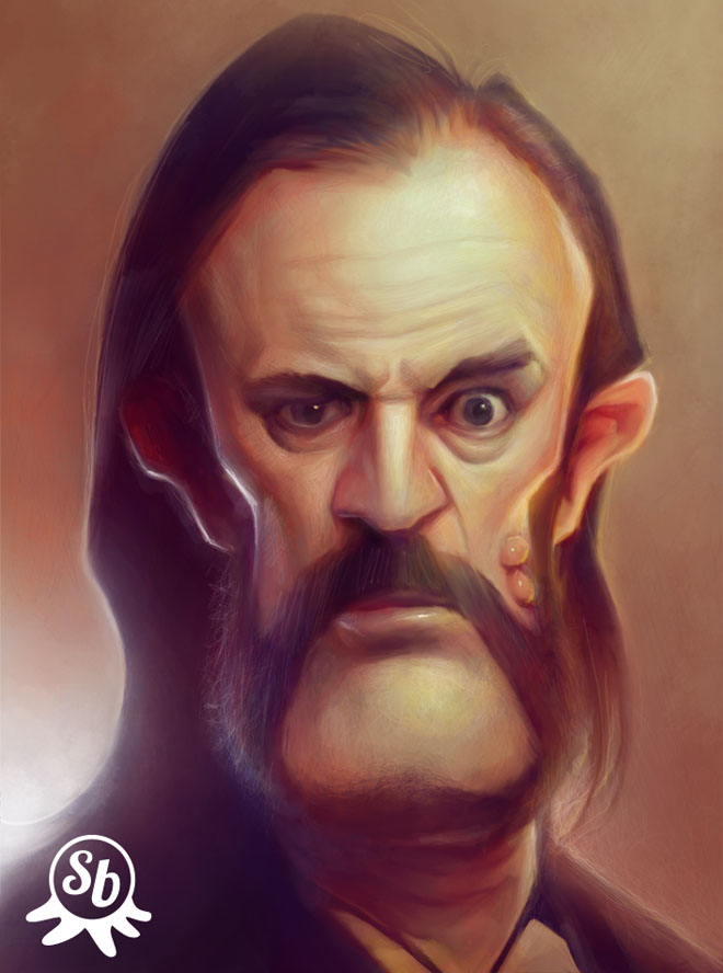 digital painting Lemmy