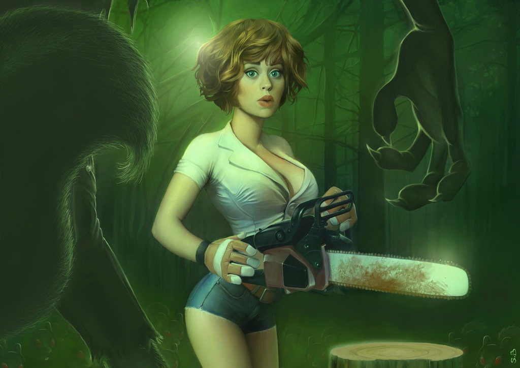 the girl, the chainsaw serge birault