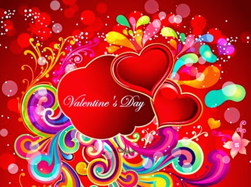 Colorful happy valentines day images