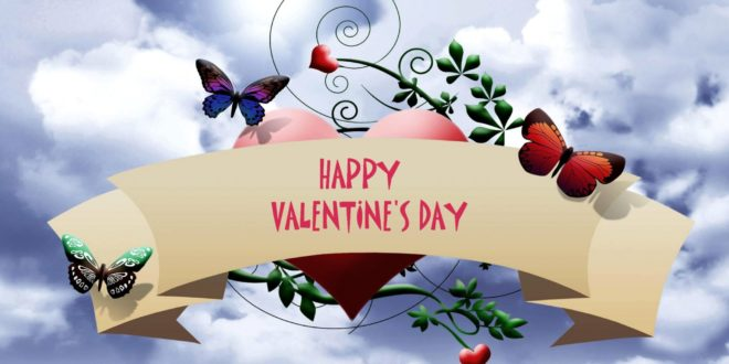 Happy Valentines Day wallpaper butterfly