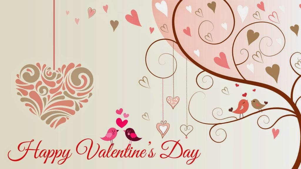Happy Valentines Day wallpaper love birds