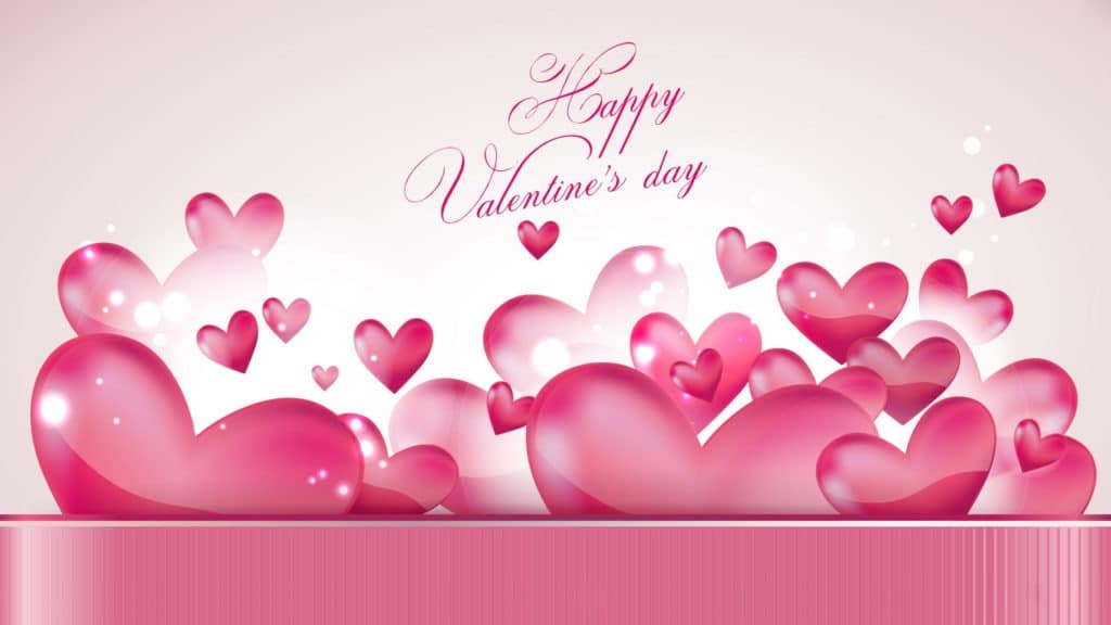 Happy Valentines Day wallpaper pink hearts