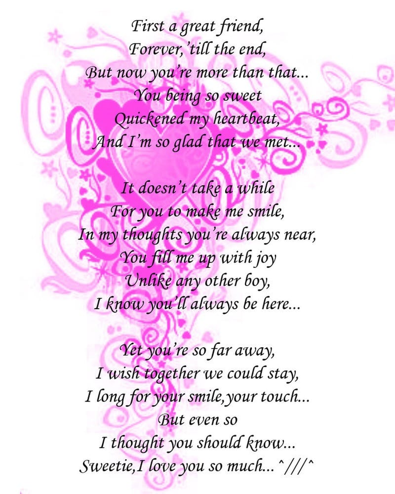 Love You poems for him