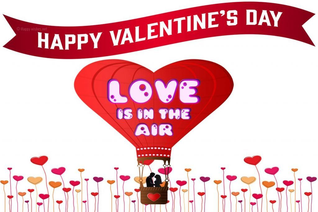 Love is in the air happy valentines day