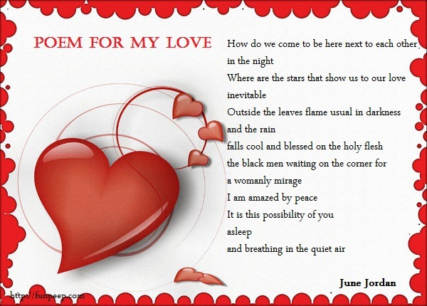 Poem for my love