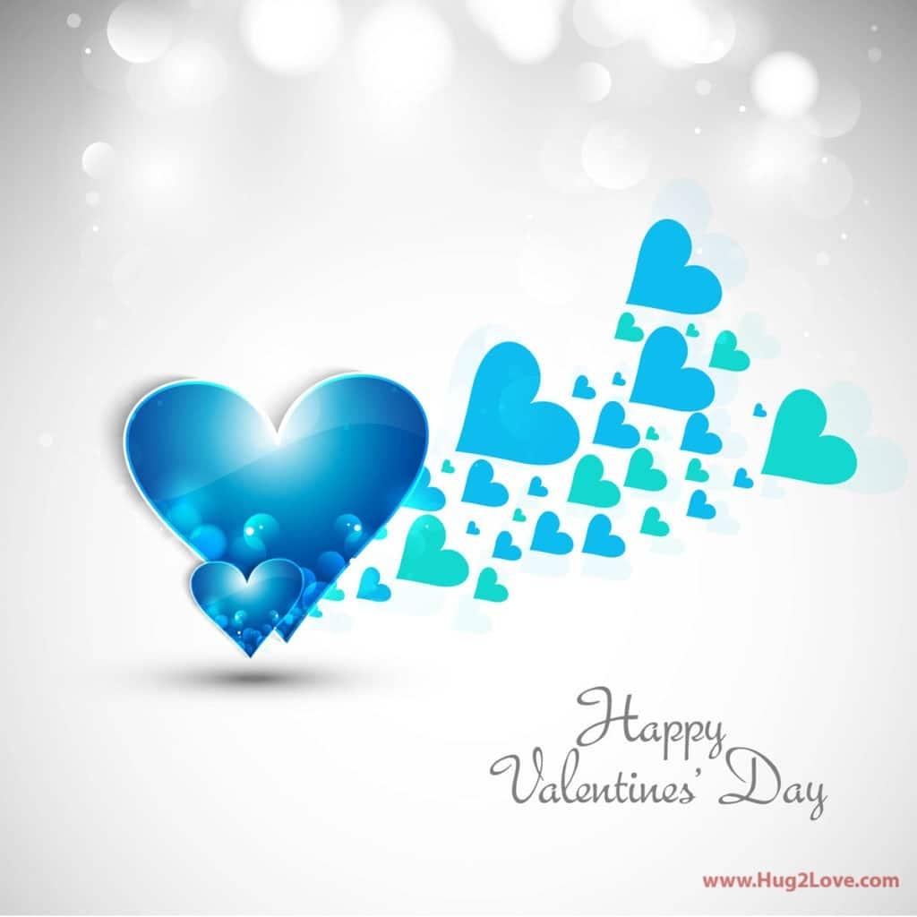 blue happy valentines day wallpaper