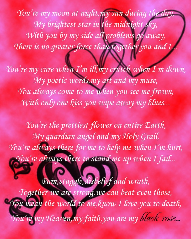 love poems for him on valentine