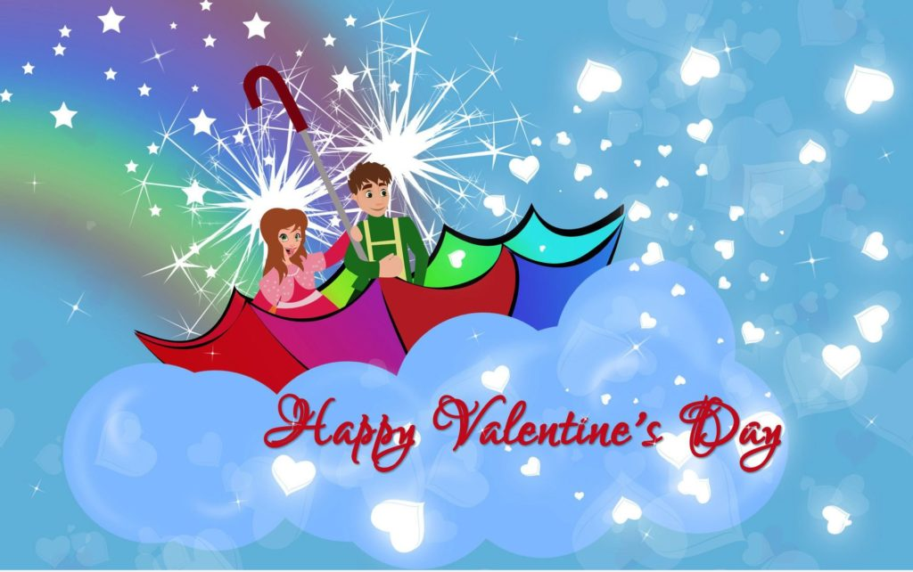lovely Happy Valentines Day wallpaper